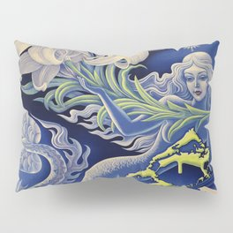 Vintage Mermaid Bermuda Pillow Sham