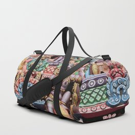India Hinduism multicolored Temple Design Duffle Bag