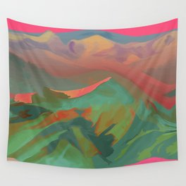 Pink Valley Wall Tapestry