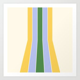 Spring Retro Stripes Art Print