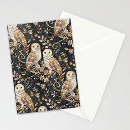 Wooden Wonderland Barn Owl Collage Stationery Cards