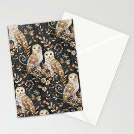 Wooden Wonderland Barn Owl Collage Stationery Cards