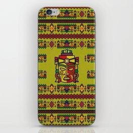 Colorful Aztec Inca Mayan Mask iPhone Skin