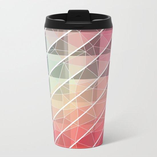 Abstract Geometric Design Metal Travel Mug