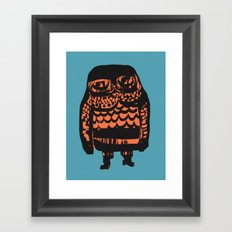Little Seal (blue) Framed Art Print