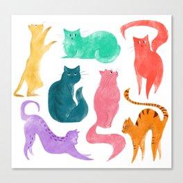 Cats Pattern Canvas Print