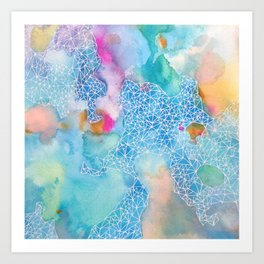 Aqua series no.3 Art Print
