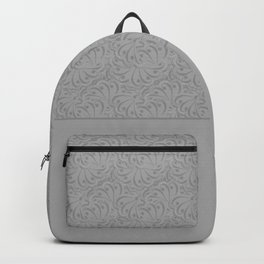 Combo light grey abstract pattern . Backpack