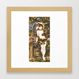 The Temptation of Eve by John Roddam Spencer Stanhope Framed Art Print