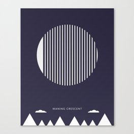 Waning Crescent Moon - Moon Phases Canvas Print