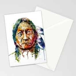 Sitting Bull watercolor painting Stationery Cards