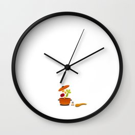May Not be Perfect But at Least I Cook Chef Foodie Wall Clock