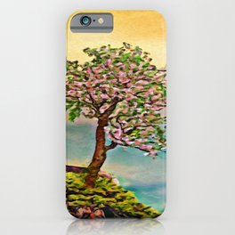 The Loneliest Tree On Mount Huangshan   Painting  iPhone Case