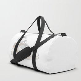 "N I K E AIR JORDAN THE 10: AIR JORDAN 1 ""OFF-WHITE"" White Duffle Bag"