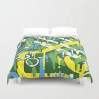 brazil Duvet Covers featuring Brazil by Roberlan Borges