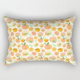 Watercolor Peaches Pattern Rectangular Pillow