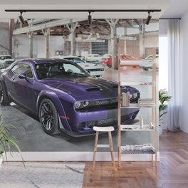 Purple Challenger Hellcat Demon Redeye Wall Mural