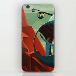 THE VOLCANO OF MARS - Olympus Mons | Space | X | Retro | Vintage | Futurism | Sci-Fi iPhone Skin