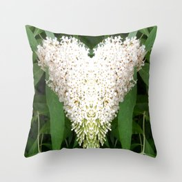 Buddleia Heart Throw Pillow