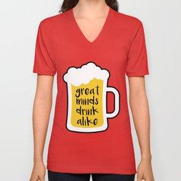 Beer - Great Minds Unisex V-Neck