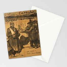 retro old emprunt de la defense nationale eux aussi font leur  poster Stationery Cards