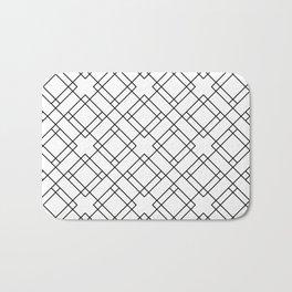 Simply Mod Diamond Black and White Bath Mat