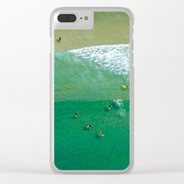 Surfing Day VI Clear iPhone Case