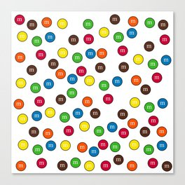 Cute Candy Chocolate Collage Canvas Print