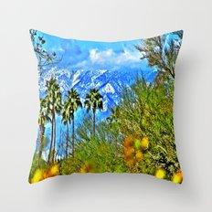 Californian Landscape Throw Pillow