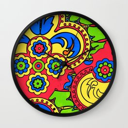 African Style No5 Wall Clock