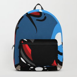 Blue alien peek Backpack