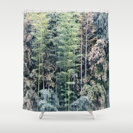 Temple Bamboo Shower Curtain