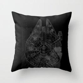 Millenium Space Ship Throw Pillow