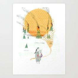 Beach House - Norway Art Print