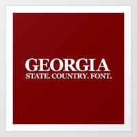 georgia Art Prints featuring Georgia by The Cracked Dispensary