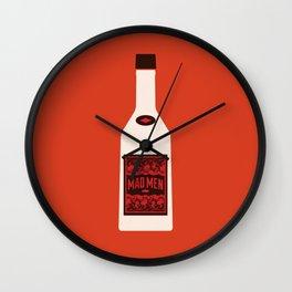 Bottle Mad Men Wall Clock