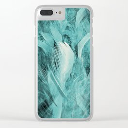 Feather Abstract Clear iPhone Case