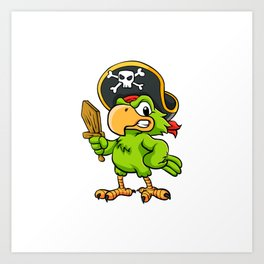 Pirate Parrot Art Print