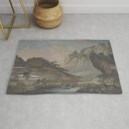 Chinese Landscape Painting Rug
