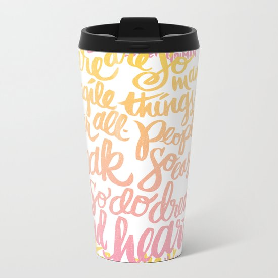 fragile things Metal Travel Mug