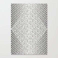 Stripes In Black & White Canvas Print