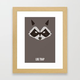 Rocket Raccoon - Log Trap Framed Art Print