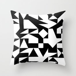 English Square (Black & White) Throw Pillow