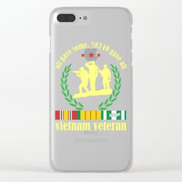 Vietnam Veteran some Gave All Nam Vet product Clear iPhone Case