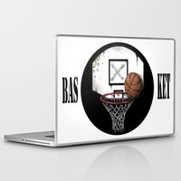 basketball Laptop & iPad Skins featuring basketball by Penfishh