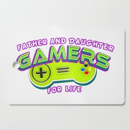 Father and Daughter Gamers For Life Cutting Board