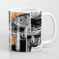doom Mugs featuring MF Doom by Crooked Octopus
