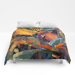 Colorful Hawaiian Tropical Leaves Comforters