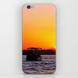 Sunset River Cruise in Africa iPhone Skin