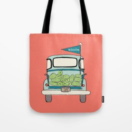 Watermelon Truck on Pink Tote Bag